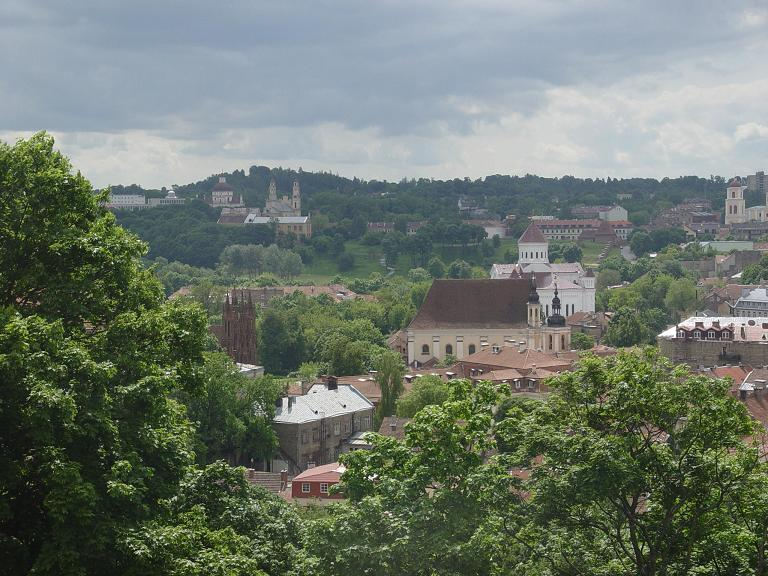 This is a view of Vilnius from atop a large hill with a castle on it. For our desert-dwelling friends: The green portions of the picture are TREES. They thrive in areas which receive a lot of moisture, ie: rain. Kinda looks like Ohio, huh?