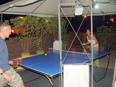 We also played ping pong and listened to music on the roof.