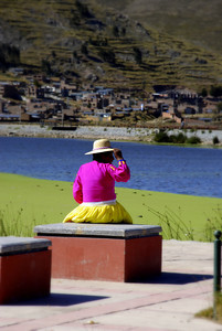 We saw others enjoying the weekend on the shores of Lake Titicaca in a much quieter and sober way.