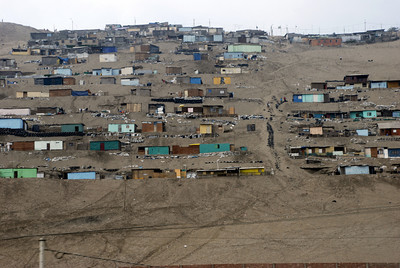 The road to Paracas from Lima took us by many shanty-towns.