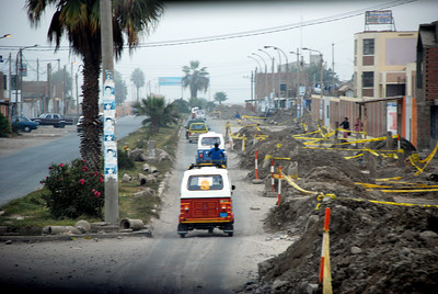 The reconstruction effort in Pisco is a huge task and seems to be progressing very slowly.
