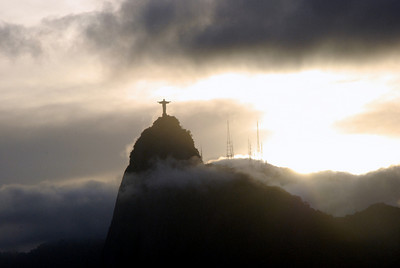 Corcovado as seen from Sugarloaf. We probably took a few dozen photos of the statue from here. The light and cloud formations changed faster than we could snap pictures.