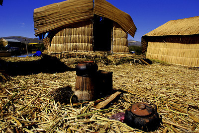Everything on the islands is made of reeds. Reed roofs, reed walls, reed floors.... hmmmm I wonder what the TP is made of.