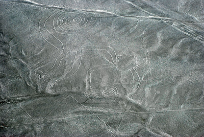 No one really knows what motivated the artists to draw these things because without the ability to fly they could not see the total finished product. It can only be viewed from the air. Yep, its name is The Monkey. Check out: http://www.crystalinks.com/nazca.html for more details.