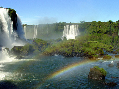 More rainbows and more falling water. The falls are a must see for any dedicated traveler. And remember that this is only the Brazillian side.
