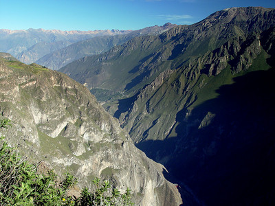 We rambled on toward Colca Canyon the next day to hopefully see the condors. The canyon was very narrow and deep.