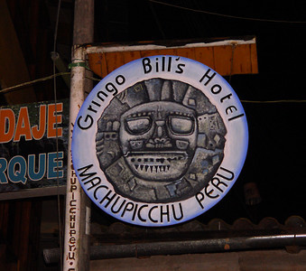 We had some time to kill in Ollantaytambo before boarding the train to Aguas Calientes so we started looking for a place that served pisco sours. We didn't actually stop here, but the name was cool.