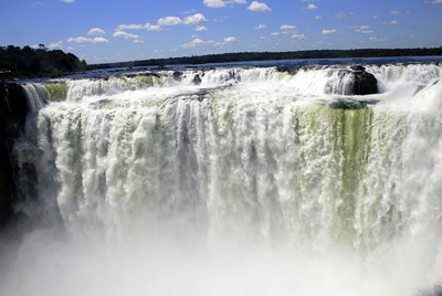 The next day we crossed the border back into Argentina. This shot was taken from the Argentine park. The main difference between the sides was that on the Argentine side you could get much closer to the main falls. So close, in fact, that we got soaked attempting to get these shots.