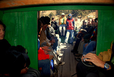 Our last encounter with Lake Titicaca was on the ferry on the route to La Paz. It was an interesting set up. All of the passengers got off the bus and into little boats. The little boats dropped us off on the other side.
