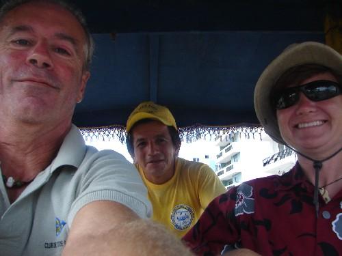 Back on land! We hopped in a 'Green Taxi' a.k.a. a pedi-cab and started to explore Bahia de Caraquez.