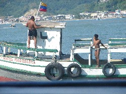C'mon Junior. We're done working on the boat for the day. Time to go home.