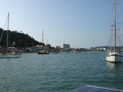 Terra Firma safely on her mooring at Puerto Amistad in Bahia de Caraquez.