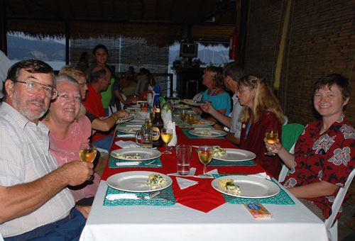 We arrived in Bahia de Caraquez, Ecuador Thanksgiving Day to a feast for Kings prepared by Puerto Amistad and all the Cruisers. We had so much fun that we decided to do it again at Christmas. Great food and of course multiple imbibements.