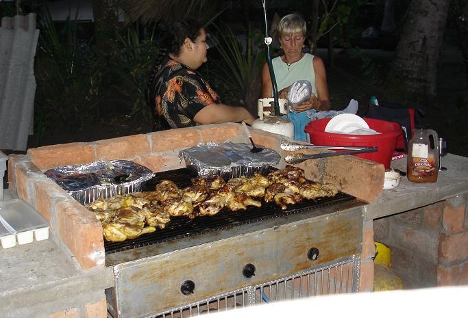 Jan's Thursday night chicken BBQ