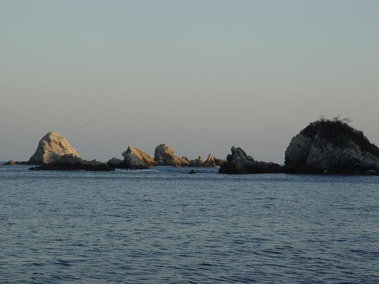 Rescalillo Bay was beautiful and very peaceful. The rocks guard the entrance.