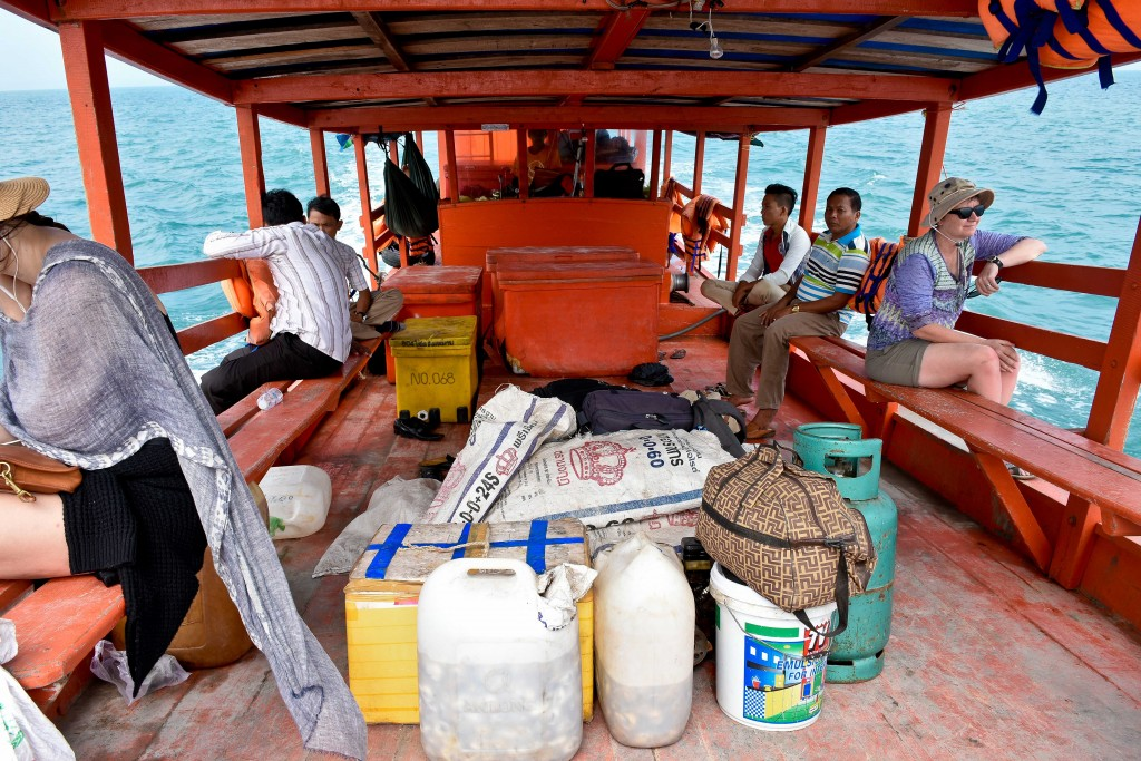 The slow boat ferry from Coconut Beach to Sinhanoukville.