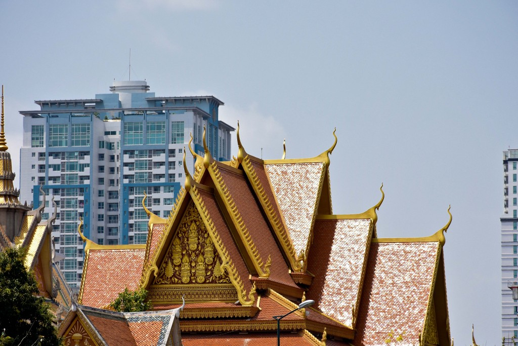 Phnom Penh skyline. The old and the new.