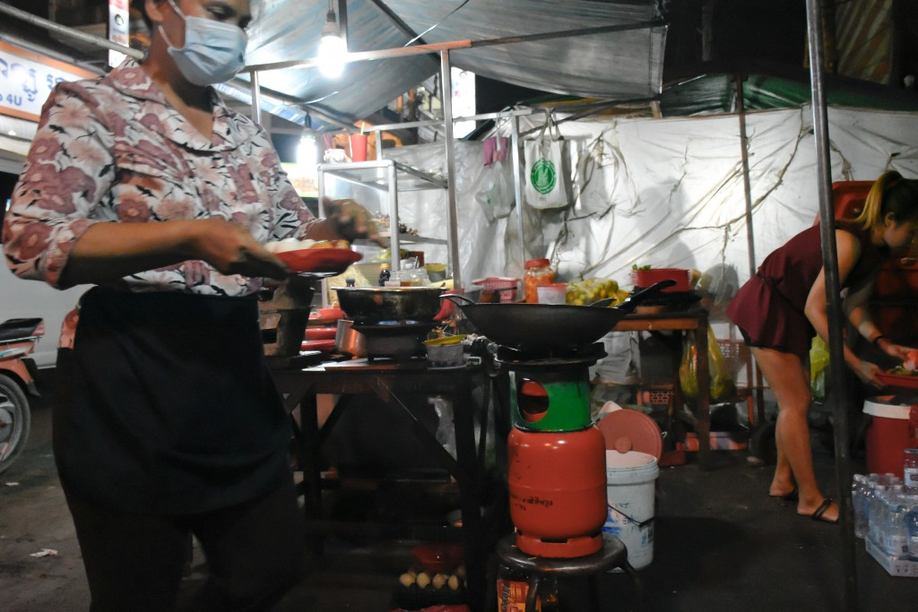 The kitchen for the street food restaurants.