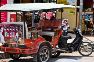 Other than walking, the best way to get around is the classic tuk tuk.