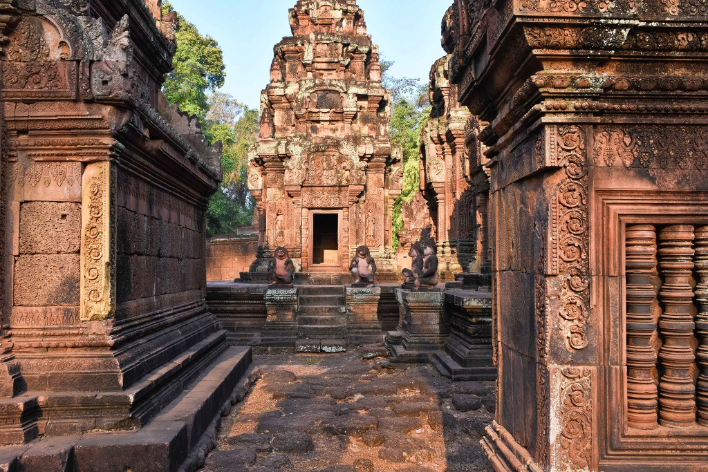 Another section of one of the smaller temples near Angkor Wat.