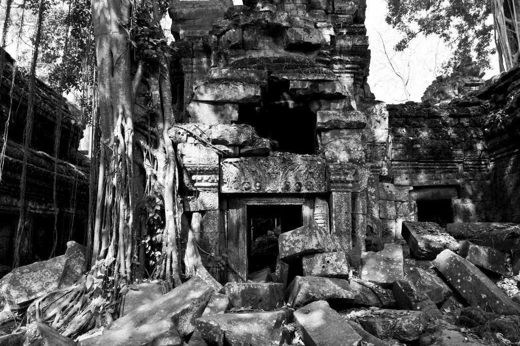 This temple wasn't as lucky as some of the others, as trees decided to take root and return it to jungle.