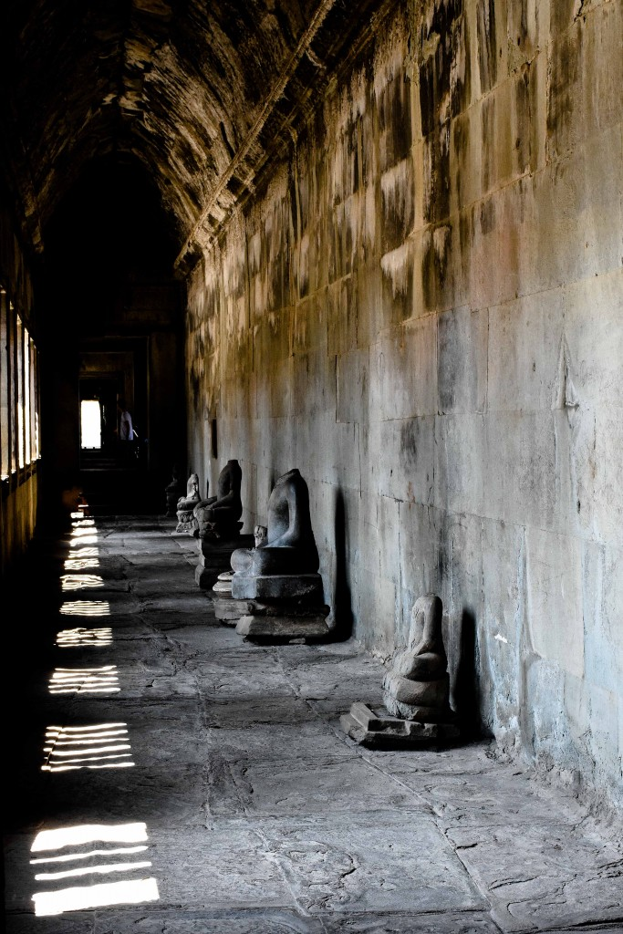 One of the many hallways in Angkor Wat that we strolled through.