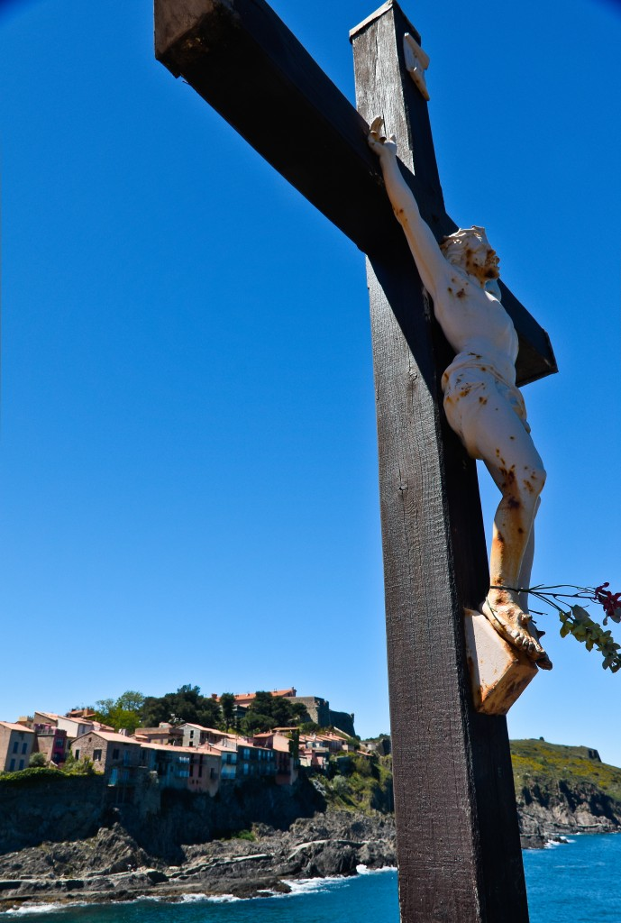 From the church at the point in Collioure.