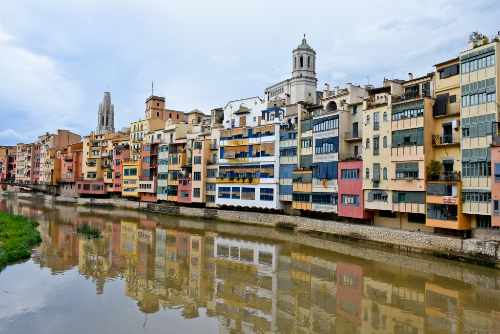 Girona, Spain during the festival of flowers. Flowers were just an excuse to display incredible art.