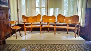 Gaudi designed furniture. Although sitting on them was frowned upon, they do look comfy.