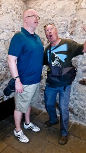 Bill and Pat horsing around in one of the Medieval Mansion rooms that housed the Picasso Museum. Not sure what I was trying to do here, but it's not pretty.