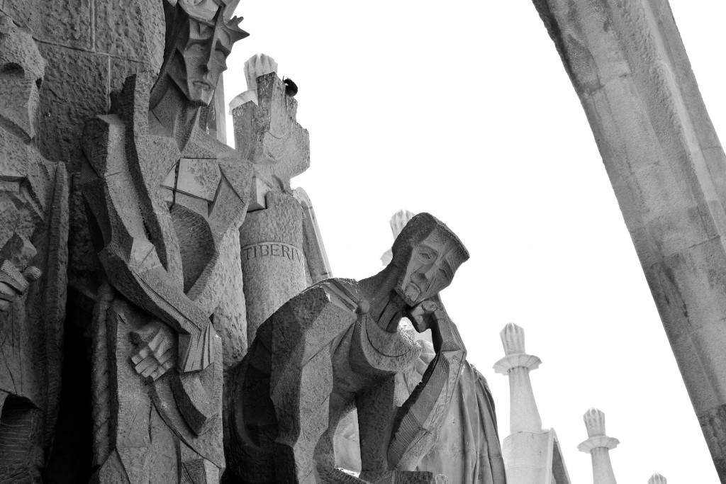 More sad fellows. Maybe they all got fired? Sagrada Familia exterior