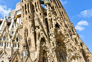 A melting ice cream cone? No, Gaudi's Sagrada Familia. Upon further inspection, its beauty shines through.