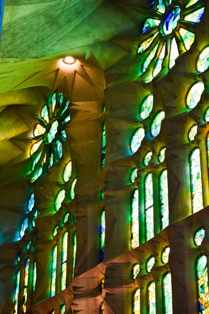 Interior of Sagrada Familia.